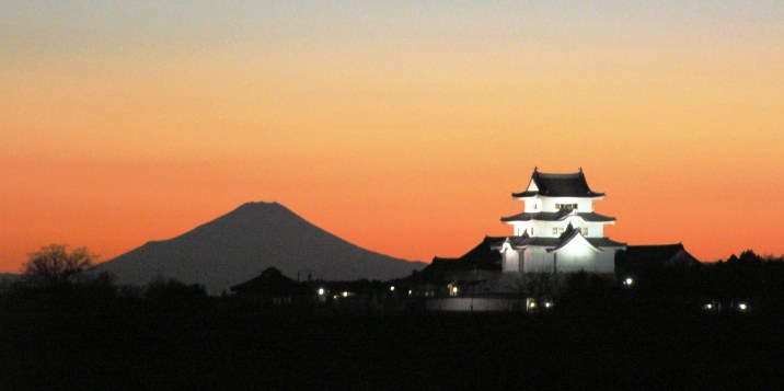 Mt Fuji and Sekiyado-jou Museum