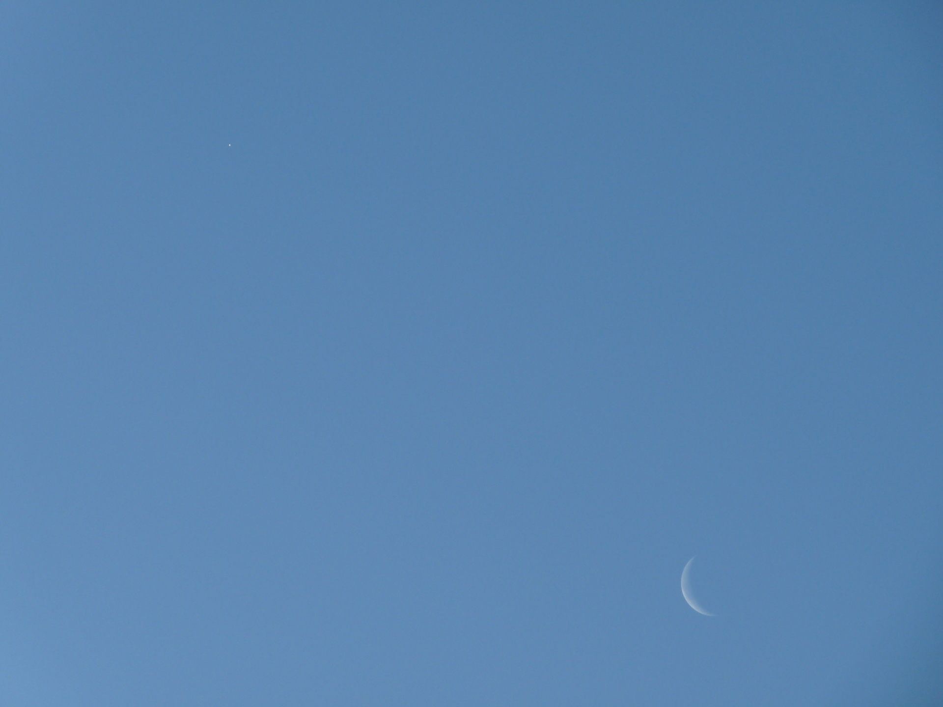 The morning star and moon