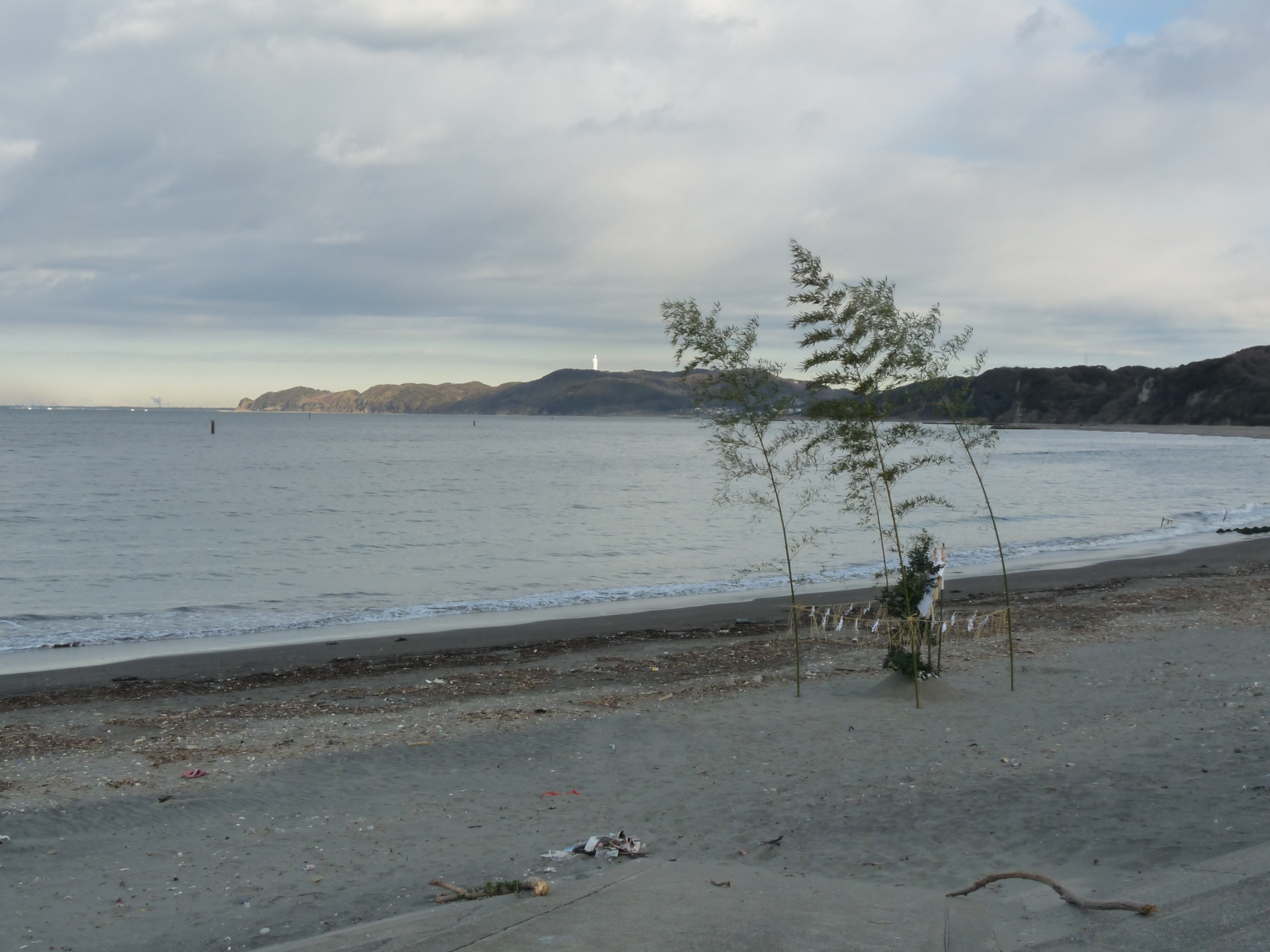 The beach in Kazusa-Minato Chiba , Japan