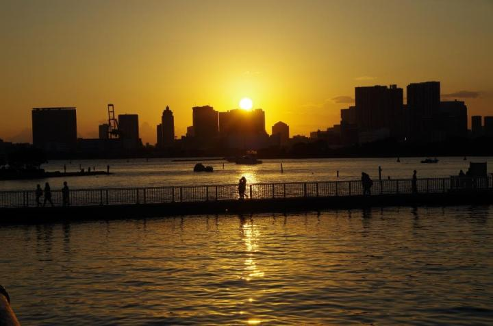 The Sunset in Odaiba, Tokyo.
