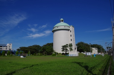 Kuriyama water supply tower at 2km