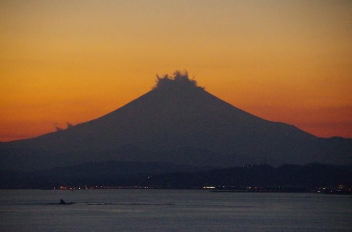 Mt Fuji in dusk