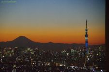 Mt Fuji and Tokyo Sky Tree