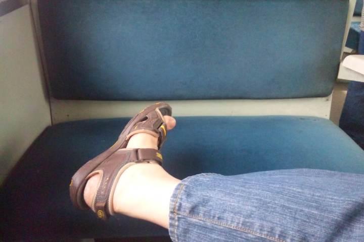 Selfie in a train