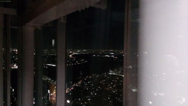 From the elevator at 45th floor