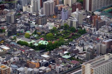 Kameido Shrine can be seen from Tokyo Sky Tree, taken May, 2013