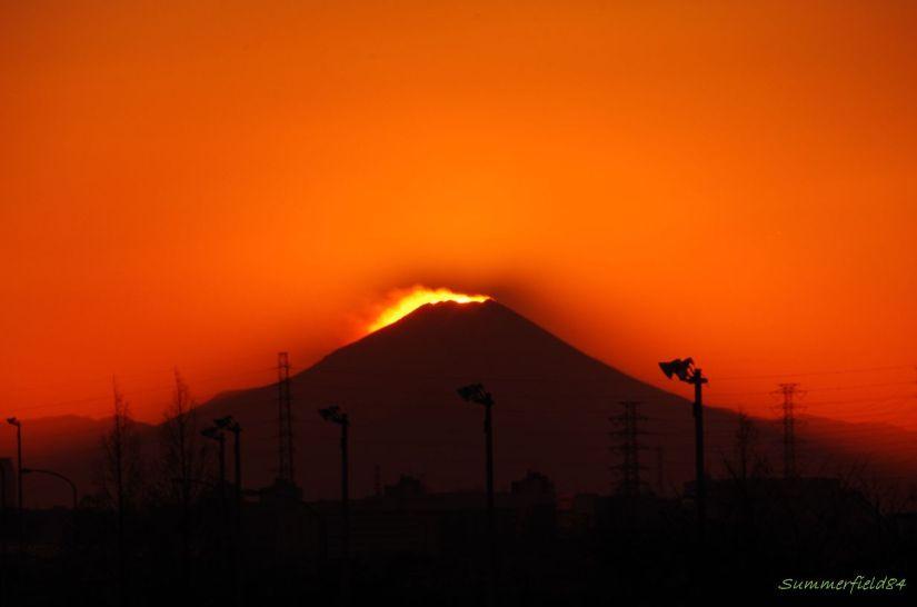 Sunset beyond Mt.Fuji