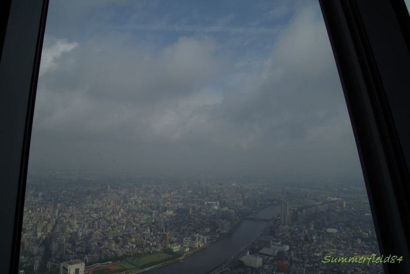 In TokyoSkyTree, a cloudy day